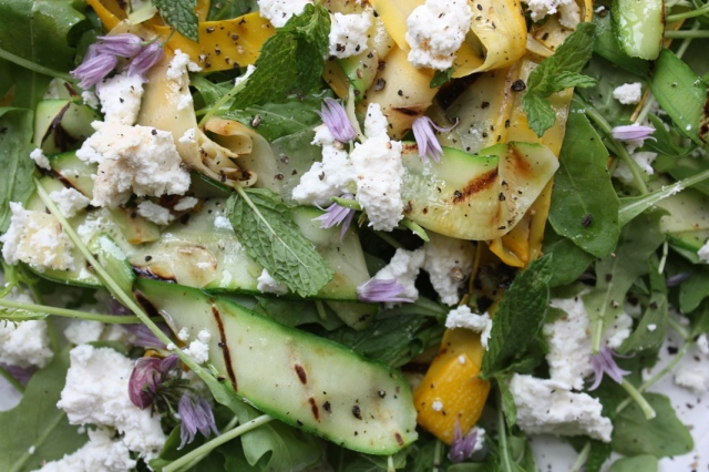 Courgette salad